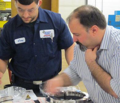 Flowserve PSSL split seal preparation for installation at Monroe County WWTP