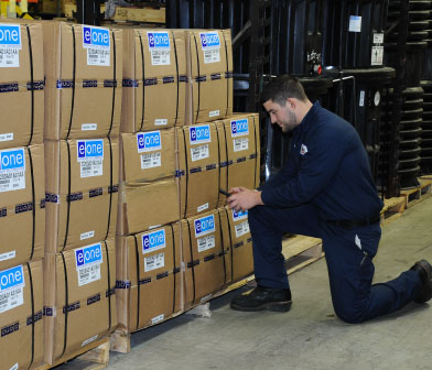 Eone grinder pumps and parts inventory at Siewert Equipment in Rochester NY