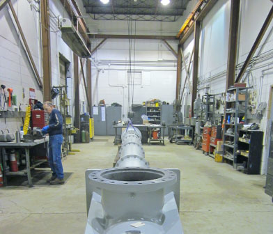 IDP vertical turbine pump in Siewert Equipment pump service center in Troy NY