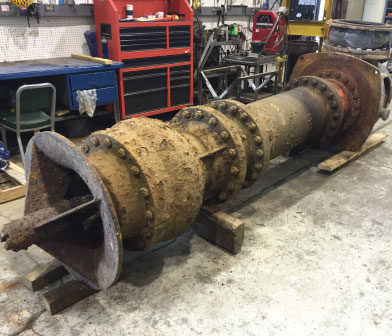 Worthington vertical turbine pump in Siewert Equipment pump service center in Troy NY