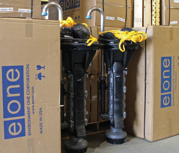 EONE grinder pumps in inventory at Siewert Equipment Service Center in Troy, NY