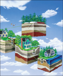 eone low pressure sewer systems residential illustration
