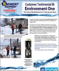 EOne customer testimonial Siewert Equipment town of West Monroe, Environment One Extreme Series grinder pump
