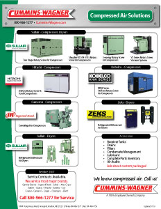 Air compressors and dryer products offered by Cummins-Wagner Maryland
