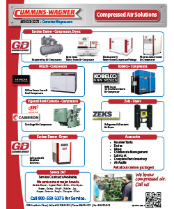 Cummins-Wagner Compressed Air Solutions line card, Virgina