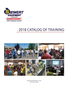 Siewert Equipment Training Catalog - lunch and learns for operators and engineers