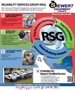 Siewert Equipment Reliability Services Group (RSG) flyer