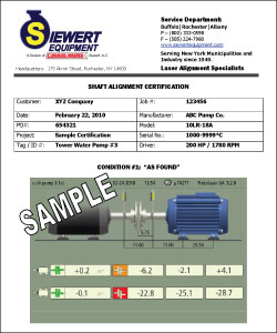 Example of shaft alignment certification report