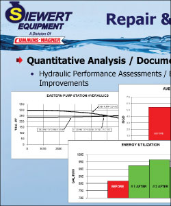 Example of quantitative analysis with hydraulic performance assessments and efficiency improvements