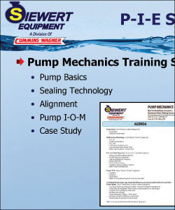 Example of Pump mechanics training seminar agenda