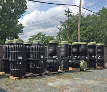 EONE tanks and pump stations inventory at Siewert Service Center in Troy NY