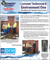 Environment One customer testimonial retrofitting with eone upgrade grinder pumps with Siewert Equipment in Pendleton, NY