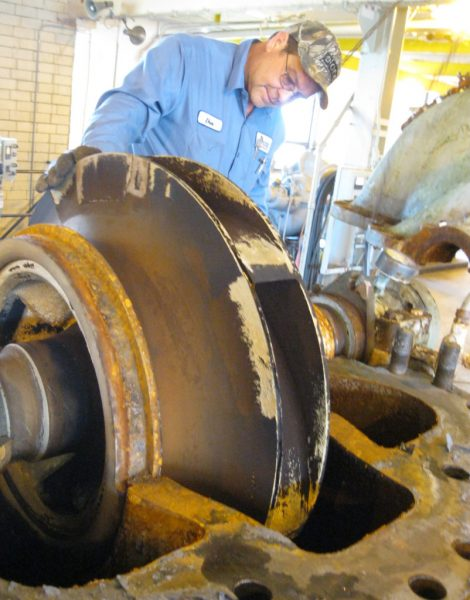 Split case pump repair at Energy Development plant in Rochester NY