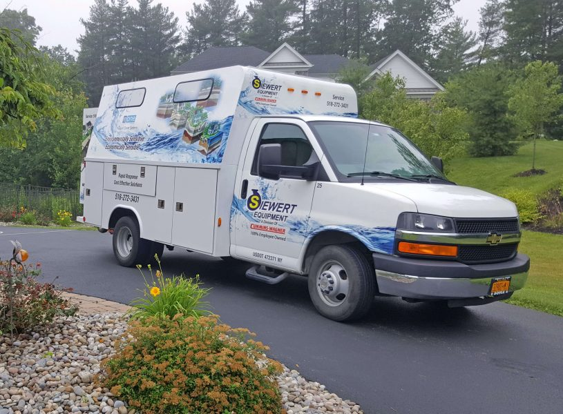 Siewert Equipment dedicated septic pump repair van.