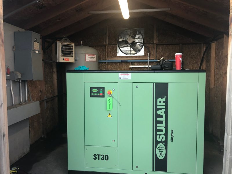 Sullair Shoptek Compressor ST30, Sullair Refrigerated Dryer, with Pre and Post Sullair Line Filters installed by Cummins-Wagner in NJ and Philadelphia