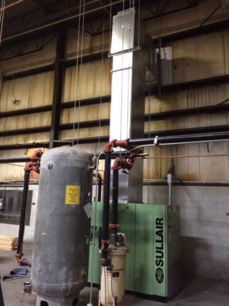 Sullair 100hp, model 7509VB Variable Speed rotary screw air compressor for central PA asphalt roofing manufacturer.