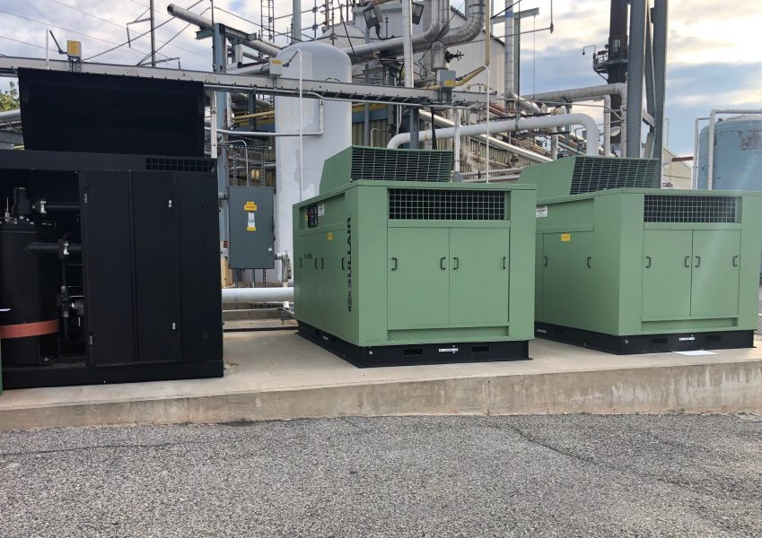 Three Sullair air compressors at local Philadelphia/NJ company provided by Cummins-Wagner.