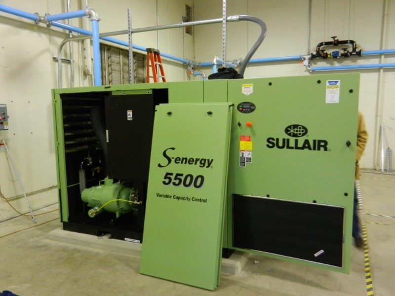 Cummins-Wagner Sullair S-energy 5500 air compressor startup with variable capacity control