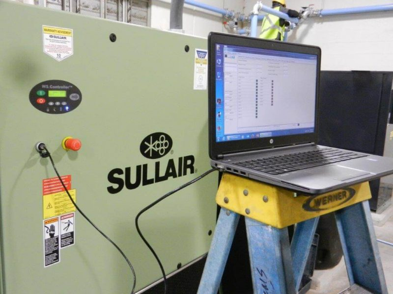 Cummins-Wagner startup of Sullair air compressor in Baltimore Maryland area