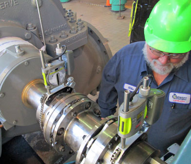 Precision shaft alignment at University of Rochester cogen plant
