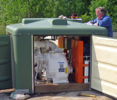 Preventative Maintenances services at at Gorman-Rupp above ground 6x6 pump station