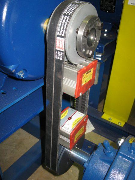 Vibralign belt-hog v-belt laser alignment tool with Gorman-Rupp pump