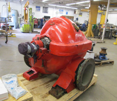 Worthington pump in Rochester NY Siewert Service Center for repair