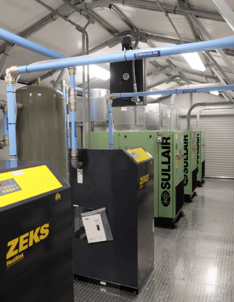 Compressed Air building package with sullair compressors and zeks dryers maryland