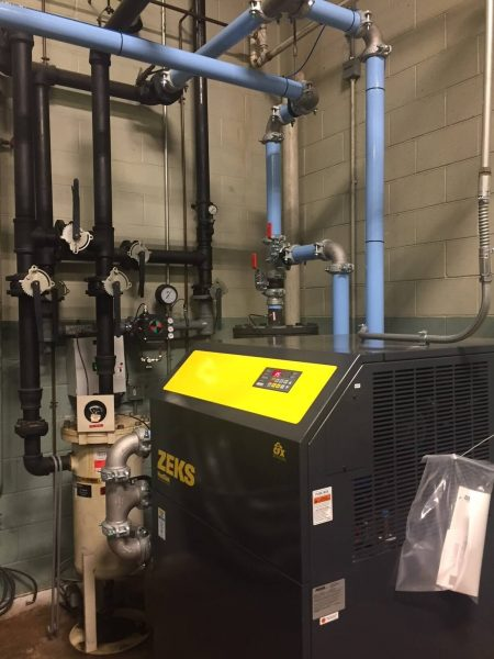 Sullair LS1109S 150 HP air compressor with ZEKS 700HSF Dryer