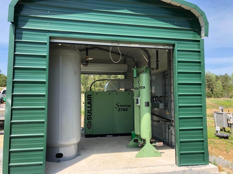 2-50 HP Sullair S-energy air compressors and heatless desiccant dryers for a large landfill in Virginia that needed an upgrade due to continuing expansion.