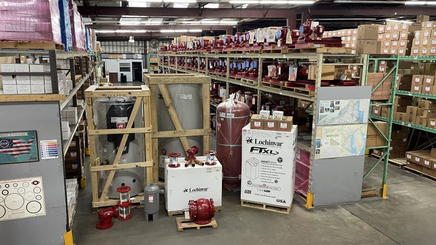 Cummins-Wagner Maryland warehouse stocked with Bell & Gossett products