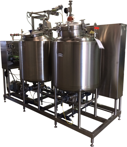 Two Tank Clean-in-Place Skid for Food Processing
