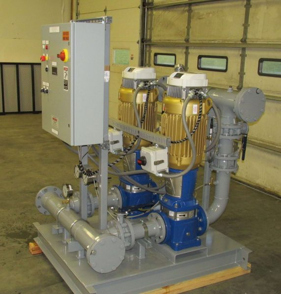 Domestic Water Pumps for Commercial and Industrial applications with redundant pump to meet customer pressure demand.