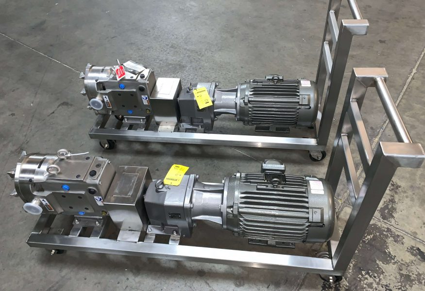SPX Flow Sanitary Pump Carts done by Cummins-Wagner-Florida
