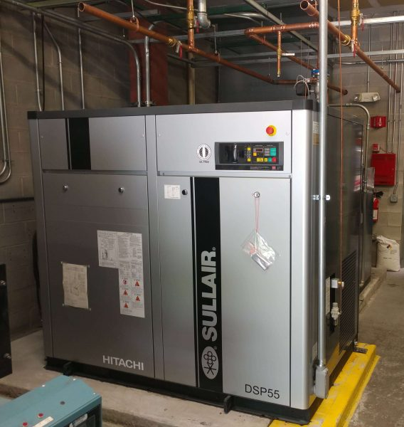 Sullair Hitachi DSP air compressor startup for a manufacturer in Maryland