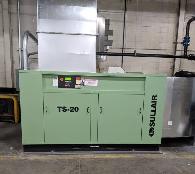 Sullair TS-20 air compressor 200 HP 2-stage tandem air end, variable capacity control air compressor.