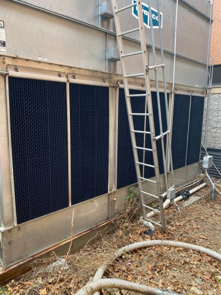AFTER - cooling tower air inlet louver project by Cummins-Wagner