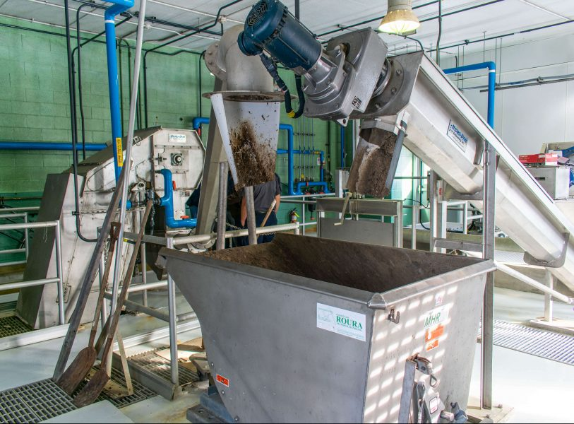 Wastewater Treatment Plant with Hydro-Dyne Bull Shark through flow screen, Sand Shark grit removal system, and Whitetip Shark washing compactor.