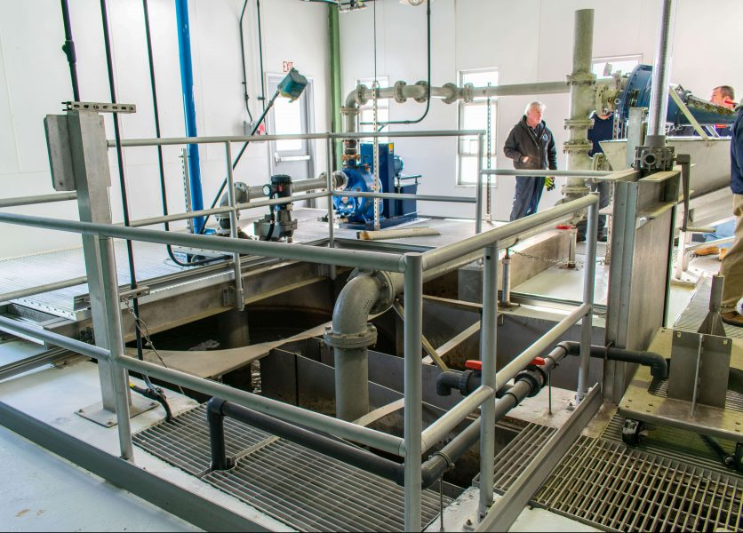 Hydro-Dyne Engineering Sand Shark vortex grit removal system in a WWTP