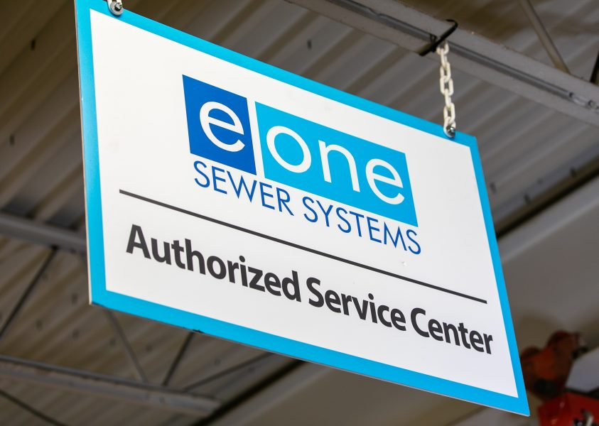 Environment One Authorized Service Center sign in Siewert Equipment service shop