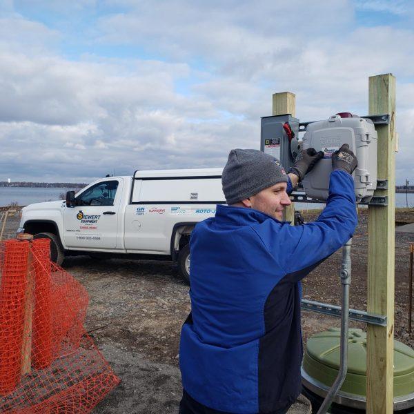 Eone grinder pump startup in Syracuse NY, Onondaga Lake