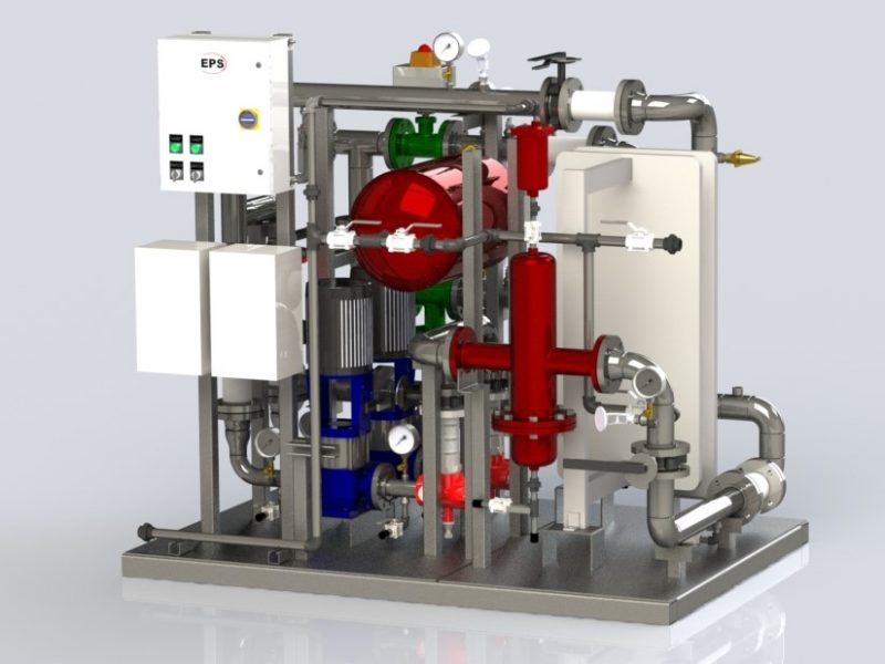 Plate and Frame Heat Exchanger Package with controls.